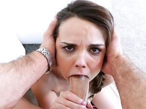 Sloppy Cocksucker Gets The Hardcore Reward She Wants