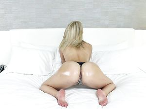 Blonde Facialized After An Energetic Fuck Scene