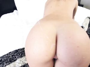 Tight Young Hottie Fucked Until He Cums On Her Ass