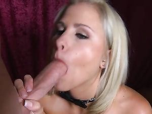 Pretty Blonde Gets A Long Dick In Her Mouth