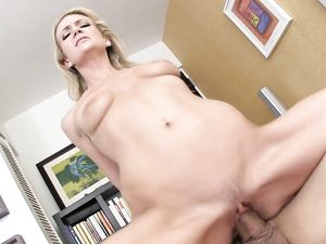 Elastic Blonde Picked Up And Fucked By A Long Dong