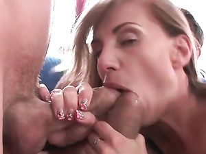 Adorable Brunette Getting A Double Penetration