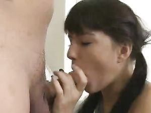 Slutty Schoolgirl Gets Pounded By The Horny Big Dick Guy