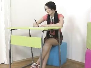 Bored Teen Schoolgirl Gets Fucked To Make Her Day Better