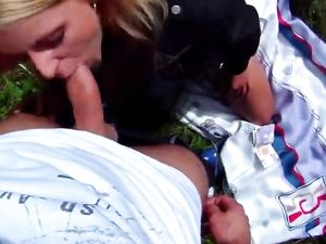 Picnic With A Blonde Babe Turned Wild