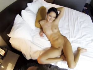 Shaved Pussy Pounded In A Doggy Style