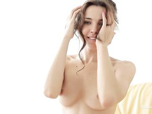 Perky Teen Tits On A Beautiful Solo Brunette