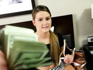 Sex For Cash With Blonde Angel In The Hotel Room