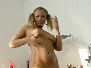 Toy Loving Teenager Gives Her Asshole A Good Time