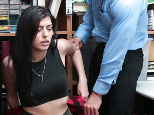 Shoplifting Slut Fucked By Two Security Guards