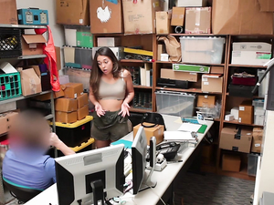 Fucking The Teen Shoplifter In The Security Office