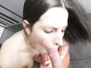 Cutie In His Kitchen Sucks Cock Passionately
