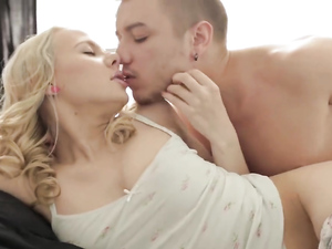 Amazing Blonde With Small Tits Enjoys Passionate Sex